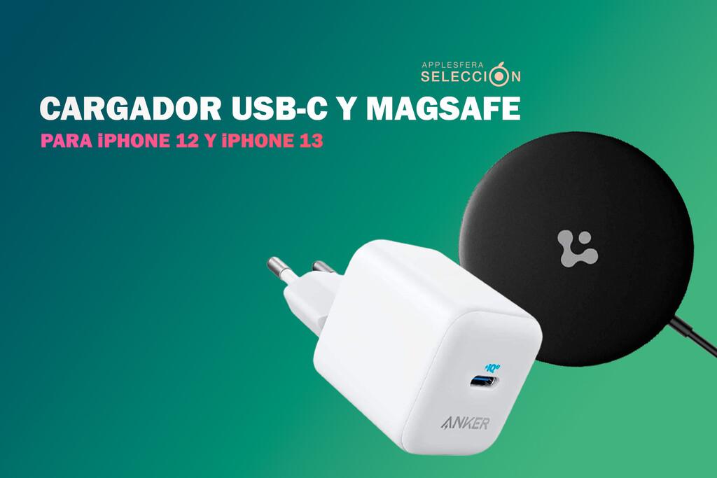 Nueve cargadores USB-C y MagSafe para recargar la batería de tu nuevo <strong>iPhone℗</strong> 13 «>     </p> <p>Apple tomó una drástica decisión que no gustó a mucha gente con el <strong>iPhone℗</strong> 12, teniendo en cuenta su precio: <strong>no incluir el adaptador de corriente</strong> con la compra del dispositivo. Además, el cable proporcionado es USB-C a Lightning, por lo que tampoco se puede utilizar en los adaptadores de pared incorporados en anteriores generaciones.</p> <p> <!-- BREAK 1 --> </p> <p>La estrategia no ha cambiado con el <a href=