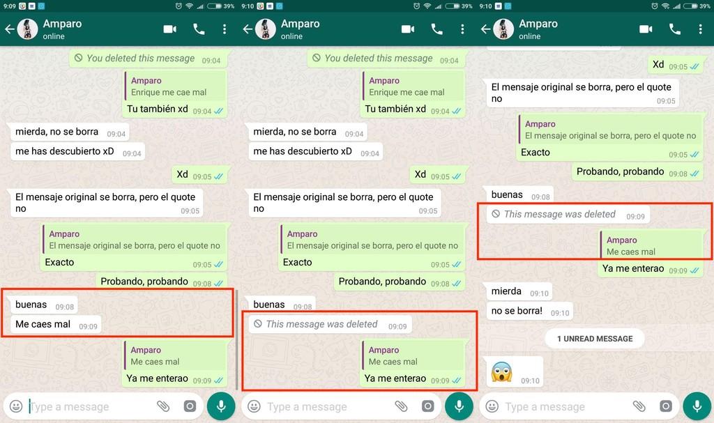 Mensaje Whatsapp
