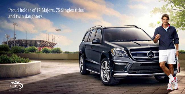Roger federer mercedes benz brand ambassador y atento for Mercedes benz brand ambassador