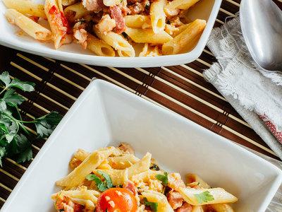 Las recetas de nuestros padres: pastas con merluza y bacon