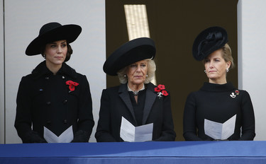 Kate Middleton, de negro impecable en el Remembrance Day