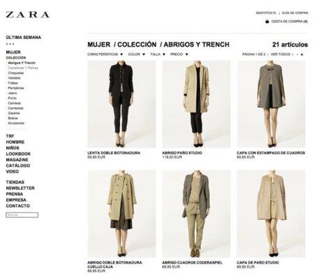 Zara estrena su tienda online. Análisis de cómo comprar desde casa