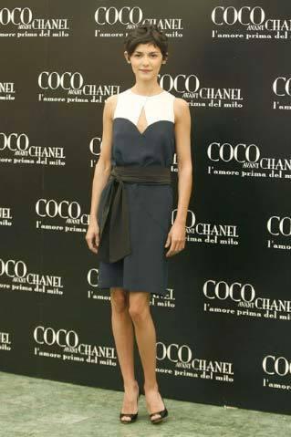 Audrey Tautou en la premiere de Coco Avant Chanel en Roma