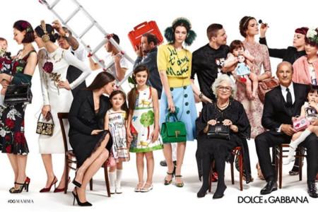 La multitudinaria familia de Dolce & Gabbana que quiere a su madre