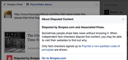 Este es el mensaje con el que Facebook tratará de impedir que publiques noticias falsas
