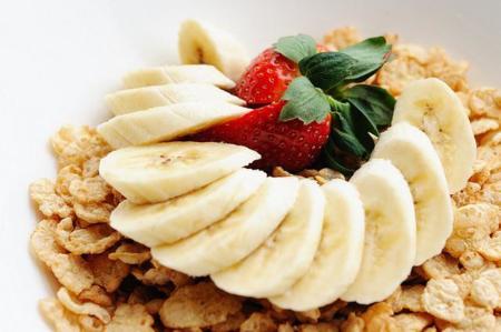 cereal con platano