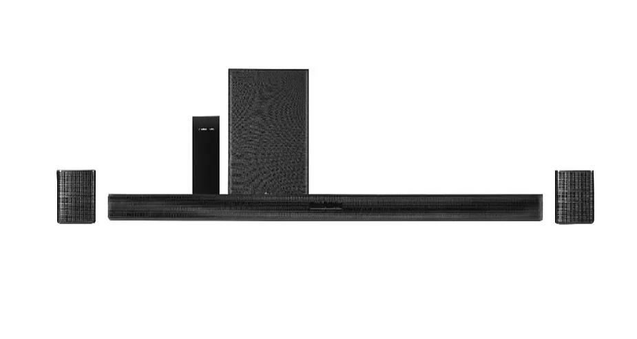 Barra de sonido - LG SK5R, Sistema 4.1, Hi-Res, 480 W, DTS Virtual X, HDMI + Altavoces Surround