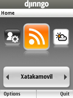 Djinngo: los widgets segun Orange