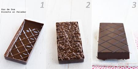 Cómo hacer turrón de chocolate crujiente paso a paso. Receta de Navidad