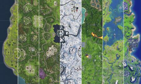 Así ha sido la evolución del mapa de Fortnite desde su primera versión