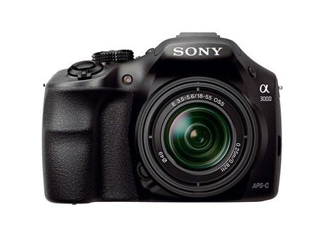 Sony A3000 vista frontal
