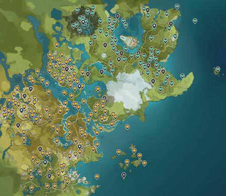 Mapa Genshin Todos Secretos