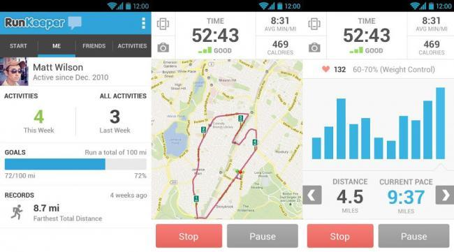 RunKeeper 3.0 para Android