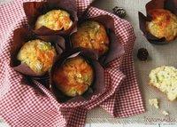 Muffins salados de puerro y queso cheddar. Receta