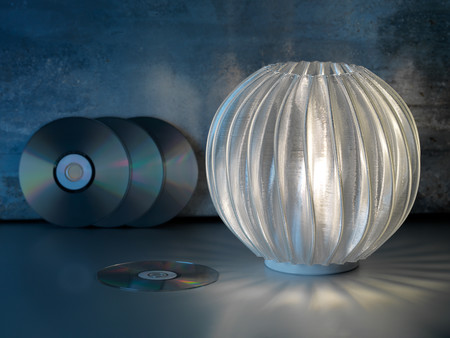 Philips Led Table Lamp Printed From Recycled Cds Credit Signify