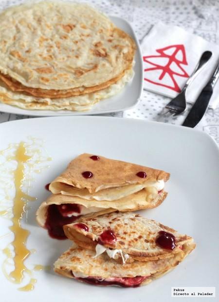Postres fáciles y rápidos: Crêpes de mascarpone y frambuesa