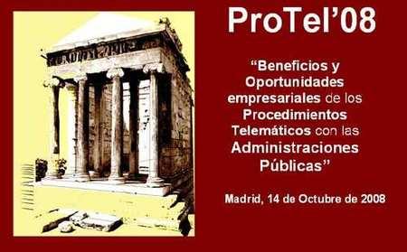 Jornada ProTel '08 sobre procedimientos telemáticos
