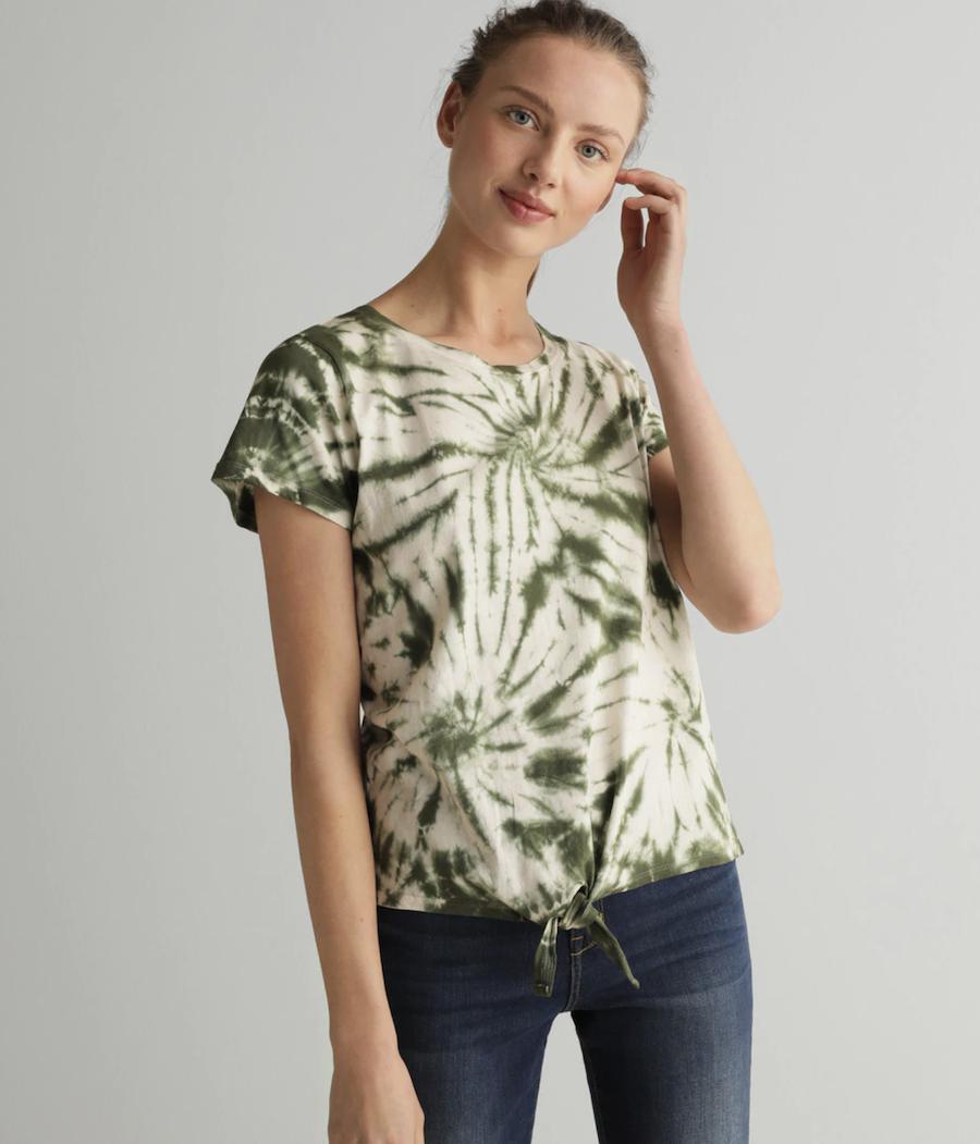 Camiseta de mujer tie dye 100% algodón