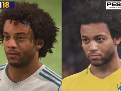 FIFA 18 frente a PES 2018: compara tú mismo las diferencias visuales y jugables