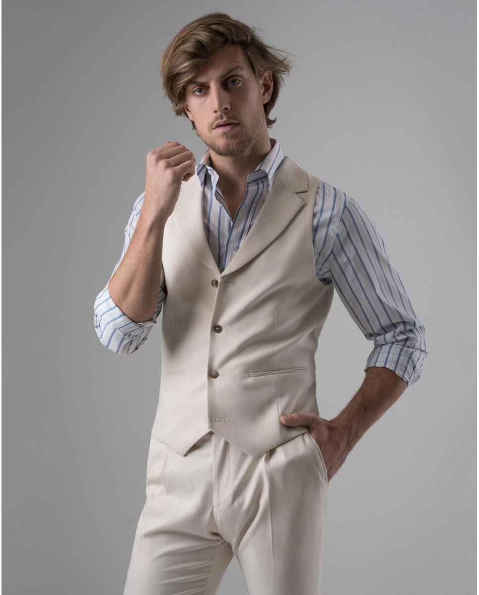 Chaleco de hombre PuroEGO de vestir en beige