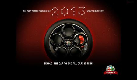 Alfa Romeo felicita 2013 con un avance del próximo 4C
