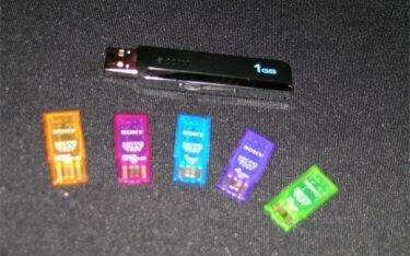 Sony Microdrive, discos duros USB diminutos