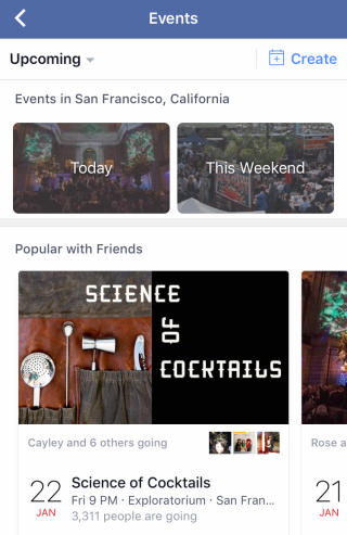Facebook Events Today