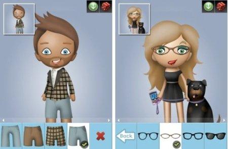 Avatar Builder para chicos y chicas. Tu avatar personalizado al estilo de RIM.