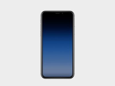 Otra ingeniosa forma de ocultar el notch en el iPhone X: fondos de pantalla con degradados