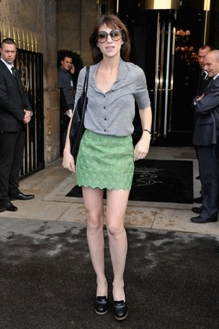 Charlotte Gainsbourg Semana de la Moda de París