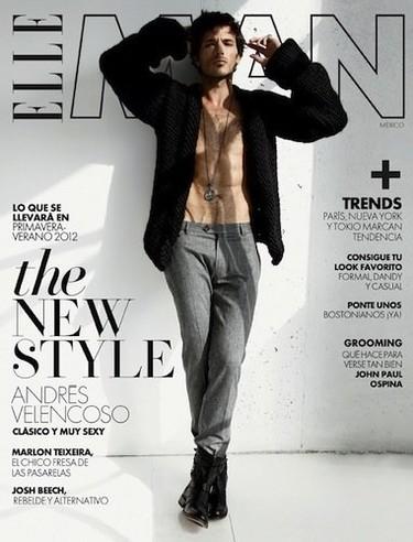 Andrés Velencoso protagoniza la portada de Elle Hombre México