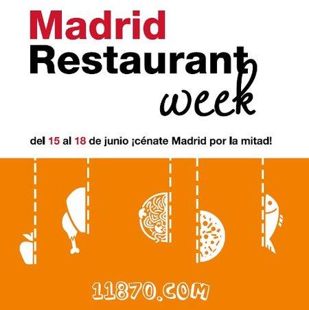 Llega la Madrid Restaurant Week