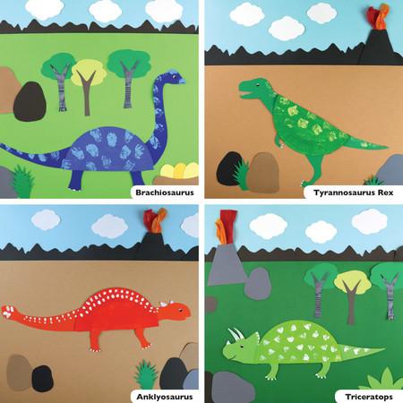 Manualidades Dinosaurios Plato 3