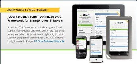 Finalmente la versión final de jQuery Mobile ha llegado