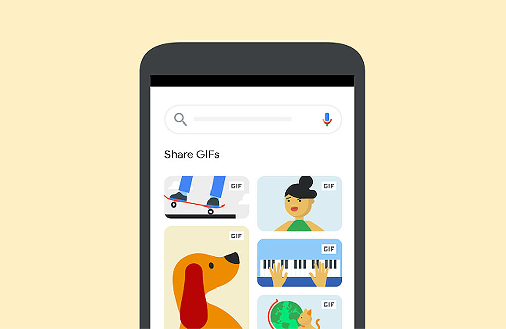 Google will enable us to share GIFs from your browser to different applications