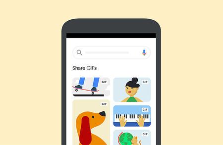 Google nos permitirá compartir GIFs desde su buscador a diferentes aplicaciones
