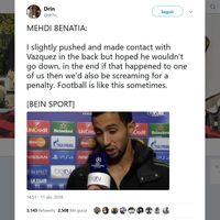 Cazadores de fakes: Ni Benatia reconoció el penalti al Real Madrid ni el vídeo es del partido de anoche