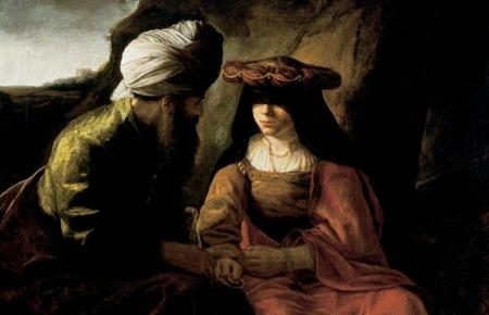 Tamar y Judá. Rembrant