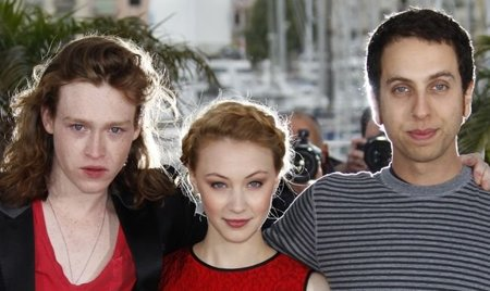 Caleb Landry Jones, Sarah Gadon y Brandon Cronenberg
