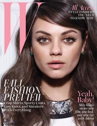 Mila Kunis, muy guapa y setentera para W Magazine