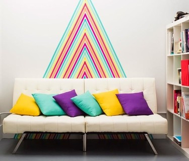 Hazlo tú mismo: un gran mural de pared con washi tape