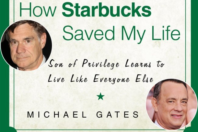 Gus Van Sant, Tom Hanks y la portada del libro How Starbucks Saved My Life