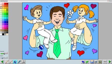 Dibujos del Día del Padre para colorear online