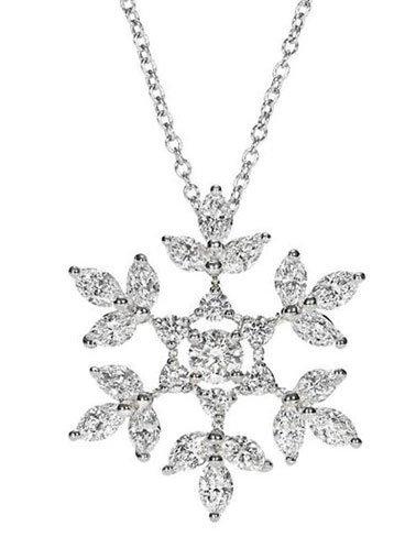 Un lujo de navidad: el colgante Harry Winston 'Diamant de Neige'