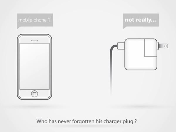 Foto de Concepto de enchufe integrado en el móvil (1/7)