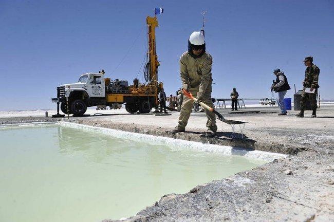 Extracción de litio