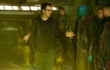 James Gunn durante el rodaje de
