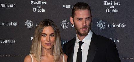 Edurne y De Gea, la pareja perfecta en la cena benéfica de UNICEF y el Manchester United