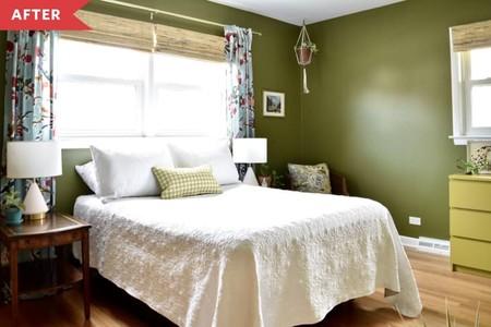 Antes y después: renovación de un dormitorio de invitados con piezas recicladas y cambio de color