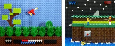 Escenas de videojuegos representadas con piezas de Lego